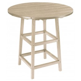 "Generations Beige 32"" Round Leg Pub Height Table"