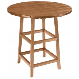 "Generations Cedar 32"" Round Leg Pub Height Table"