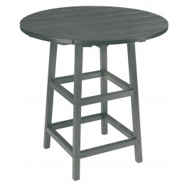 "Generations Slate Grey 32"" Round Leg Pub Height Table"