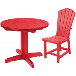 "Generations Red 32"" Round Pedestal Dining Room Set"