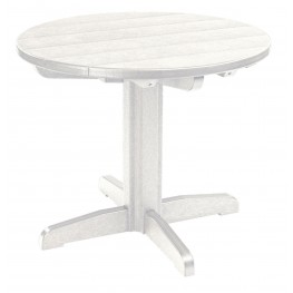 "Generations White 32"" Round Pedestal Dining Table"