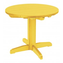 """Generations Yellow 32"""" Round Pedestal Dining Table"""