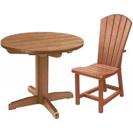"Generations Cedar 32"" Round Pedestal Dining Room Set"