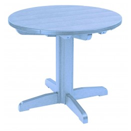 """Generations Sky Blue 32"""" Round Pedestal Dining Table"""