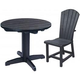 "Generations Black 32"" Round Pedestal Dining Room Set"