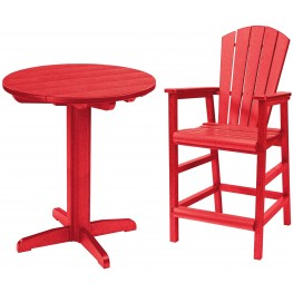 "Generations Red 32"" Round Pedestal Pub Set"