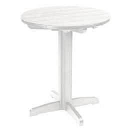 """Generations White 32"""" Round Pub Height Pedestal Table"""