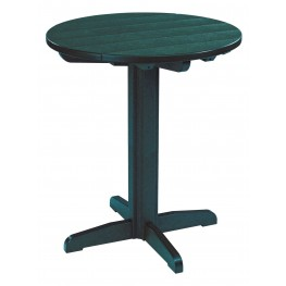 """Generations Green 32"""" Round Pub Height Pedestal Table"""