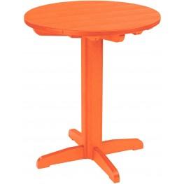 "Generations Orange 32"" Round Pedestal Pub Height Table"