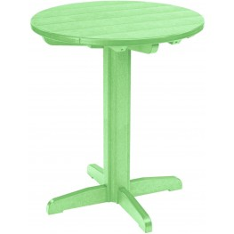 """Generations Lime Green 32"""" Round Pedestal Pub Height Table"""