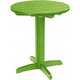 "Generations Kiwi Lime 32"" Round Pedestal Pub Height Table"