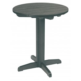 "Generations Slate Grey 32"" Round Pub Height Pedestal Table"