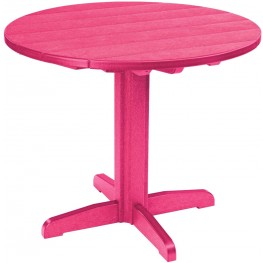 """Generations Fuschia 37"""" Round Pedestal Dining Table"""