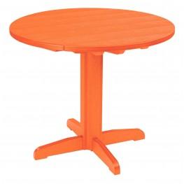 "Generations Orange 37"" Round Pedestal Dining Table"