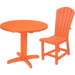 "Generations Orange 37"" Round Pedestal Dining Room Set"