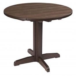 "Generations Chocolate 37"" Round Pedestal Dining Table"