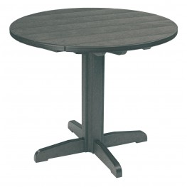 "Generations Slate Grey 37"" Round Pedestal Dining Table"