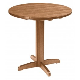 "Generations Cedar 37"" Round Pub Height Pedestal Table"
