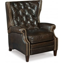 Hudson Brown Leather Recliner