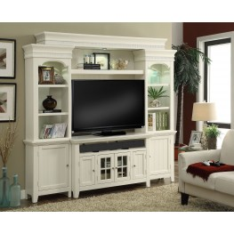 "Tidewater Vintage White 50"" Entertainment Wall"