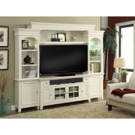"Tidewater Vintage White 62"" Entertainment Wall"