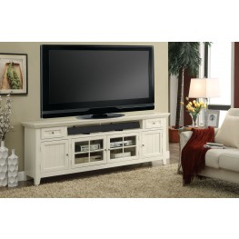 "Tidewater Vintage White 84"" TV Console"