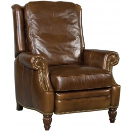 Flora Dark Walnut Leather Recliner