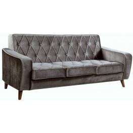 Bowery Gray Velvet Sofa