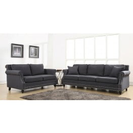 Camden Grey Linen Living Room Set