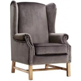 Nora Grey Velvet Chair