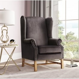 Nora Grey Velvet Chair