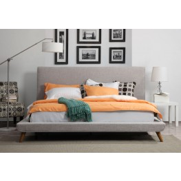 Nixon Beige Linen Queen Bed