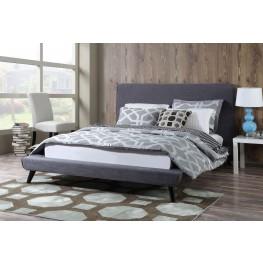 Nixon Gray Linen King Bed