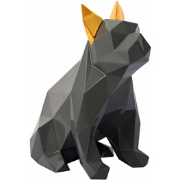 Gray and Gold Mans Best Friend Sculpture