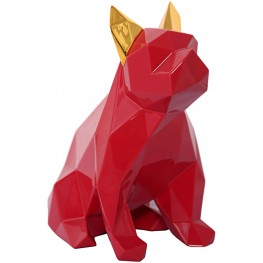 Red and Gold Mans Best Friend Sculpture