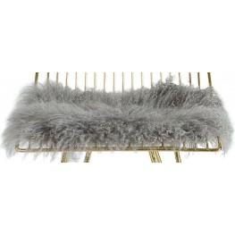 Allure Gray Sheepskin Seat Cushion