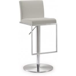Amalfi Light Grey Steel Adjustable Barstool