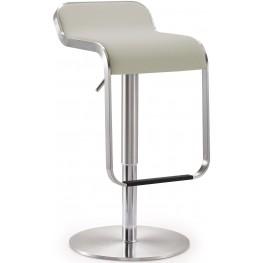 Napoli Light Grey Steel Adjustable Barstool