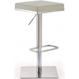 Bari Light Grey Steel Adjustable Barstool