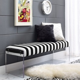 Envy Paris Velvet/Acrylic Bench