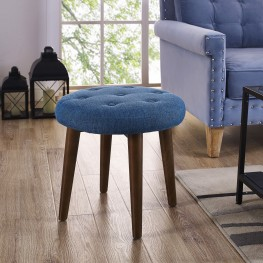 Malmo Blue Linen Stool