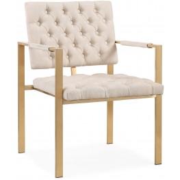 Emma Cream Velvet Chair