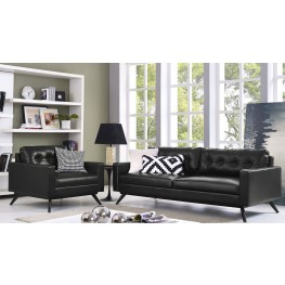Blake Antique Black Living Room Set