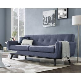James Blue Linen Living Room Set