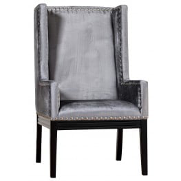 Tribeca Grey Velvet Chair
