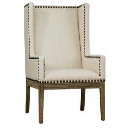 Tribeca Beige Linen Chair