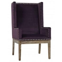 Tribeca Purple Velvet Chair