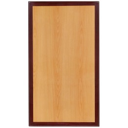 """30"""" Rectangular Two-Tone Resin Cherry and Mahogany Table Top"""