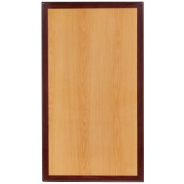 """42"""" Rectangular Two-Tone Resin Cherry and Mahogany Table Top"""