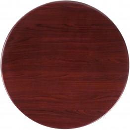 "24"" Round Resin Mahogany Table Top"